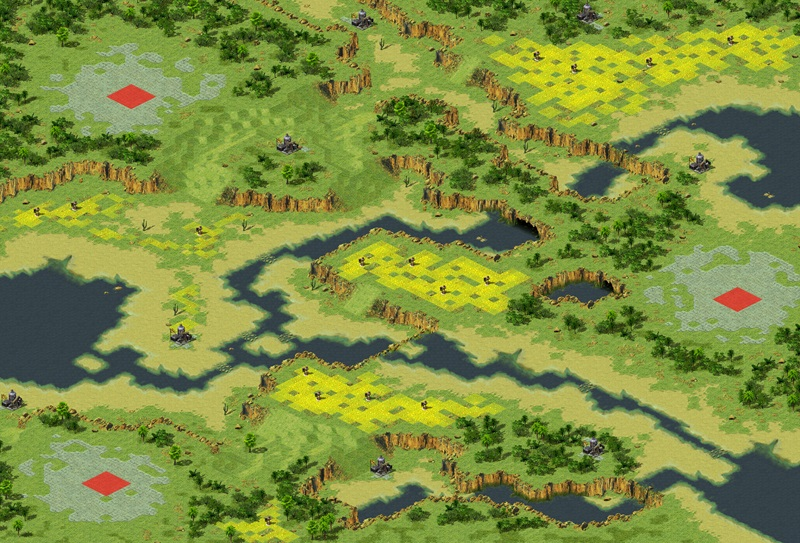 Scortched Earth Map.Scorched Earth Ra2 Map River Crossing 3 Yuri S Revenge Maps Xwis